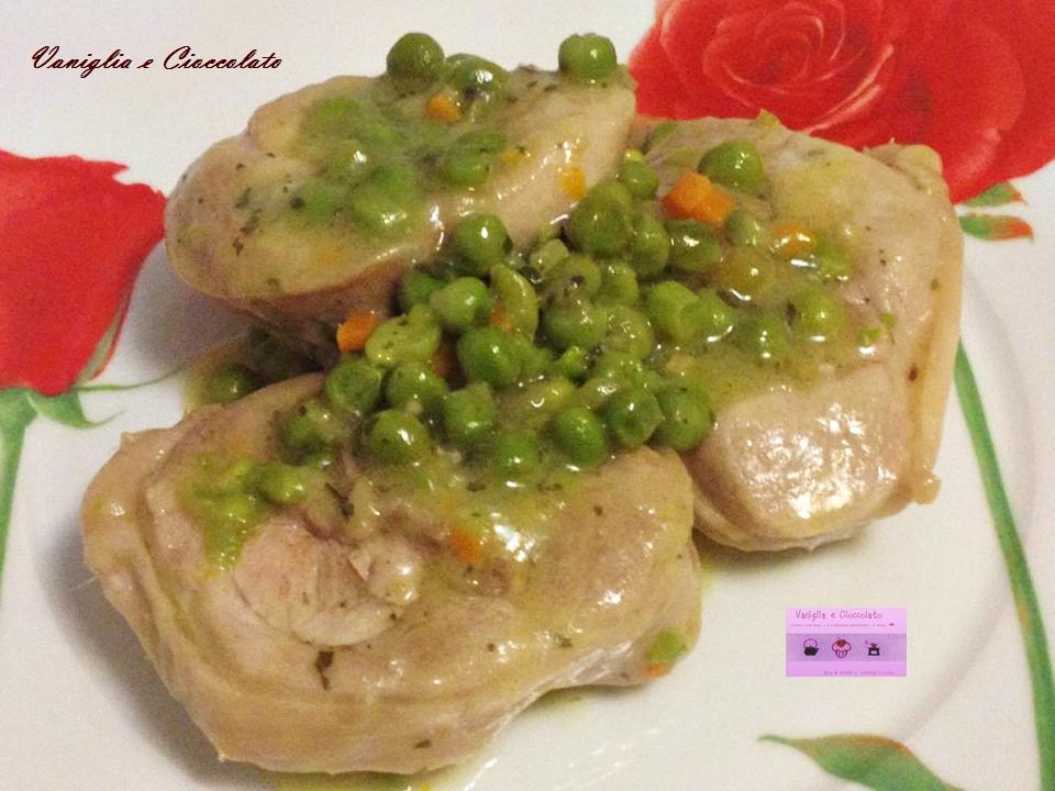 Ossibuchi di tacchino con piselli ricetta semplice e veloce for Ricette culinarie