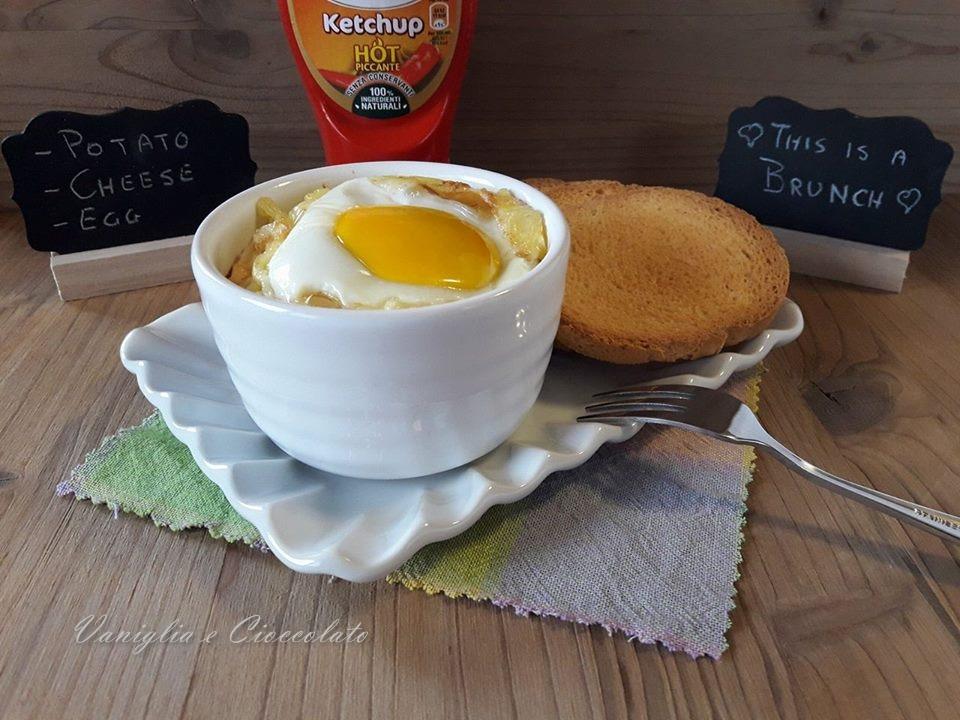 Uova al forno con patate