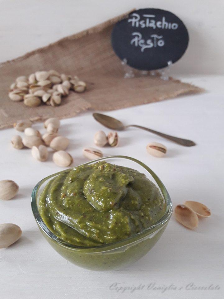Pesto di pistacchi. Una salsa alternativa al classico pesto alla genovese