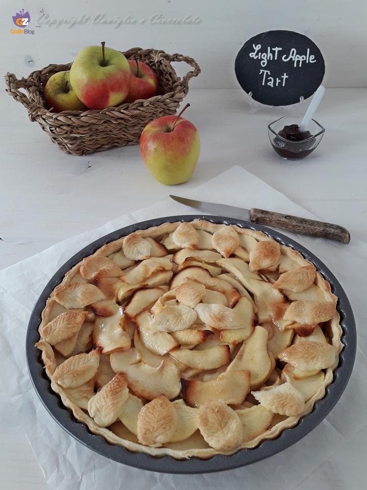 Crostata di mele light senza zuccheri aggiunti e senza burro