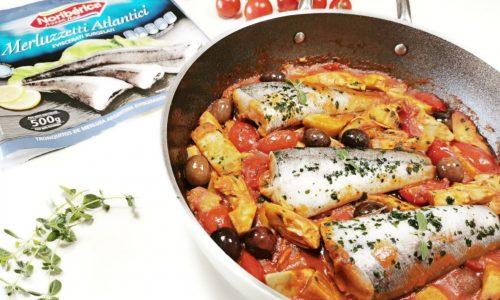 Merluzzetti con carciofi e olive