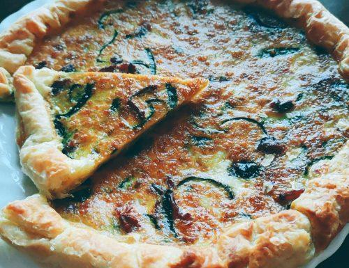 Torta rustica con Zucchine e Pancetta Affumicata