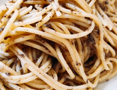 Spaghettini con Salsa Tartufata
