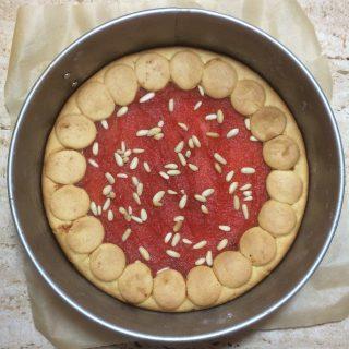 crostata di mele e barbabietola