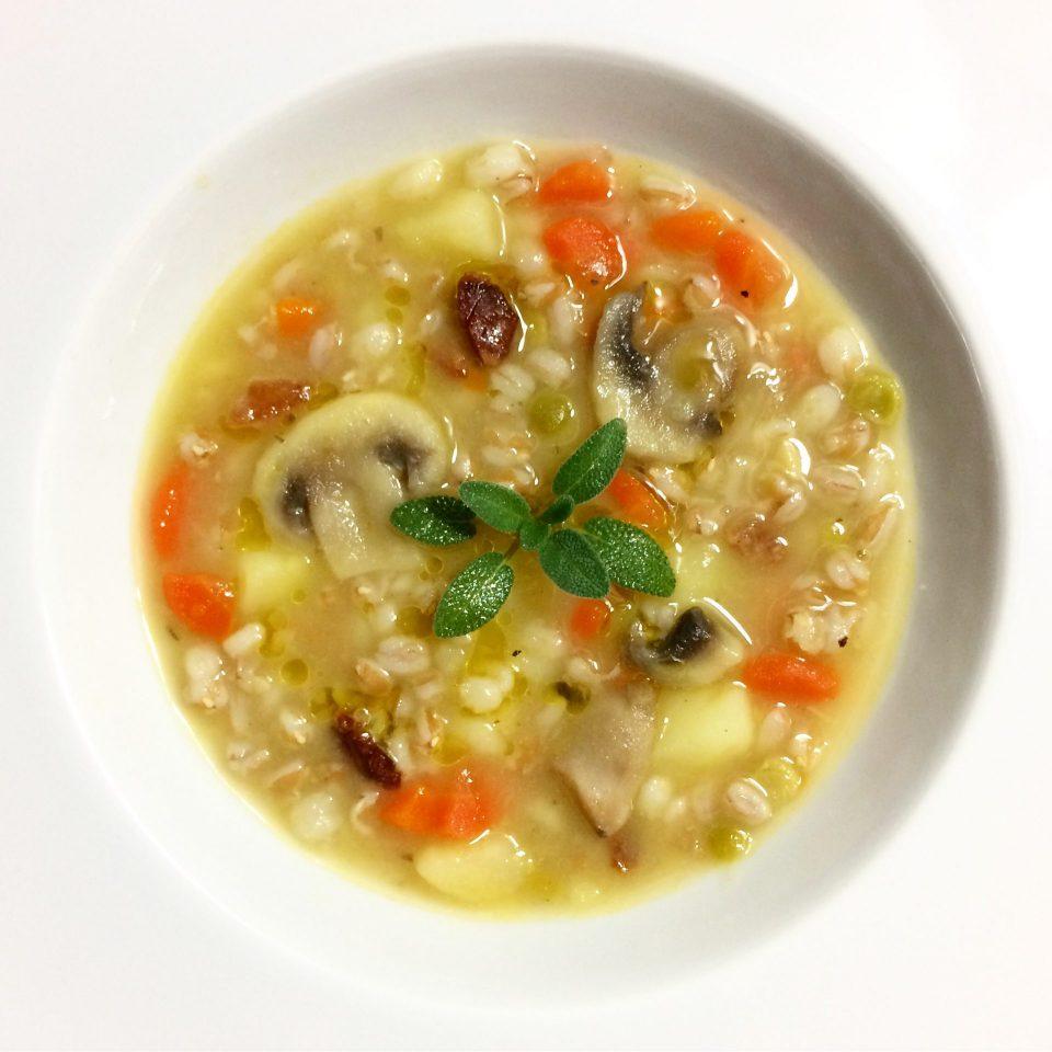 zuppa funghi e patate