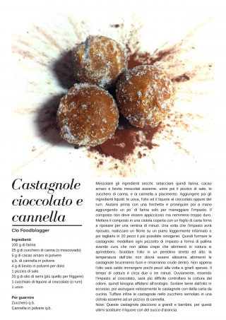 castagnole cioccolato e cannella