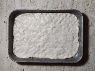 Pizza in teglia stesura