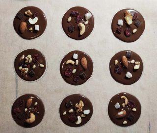 mendiants di cioccolato
