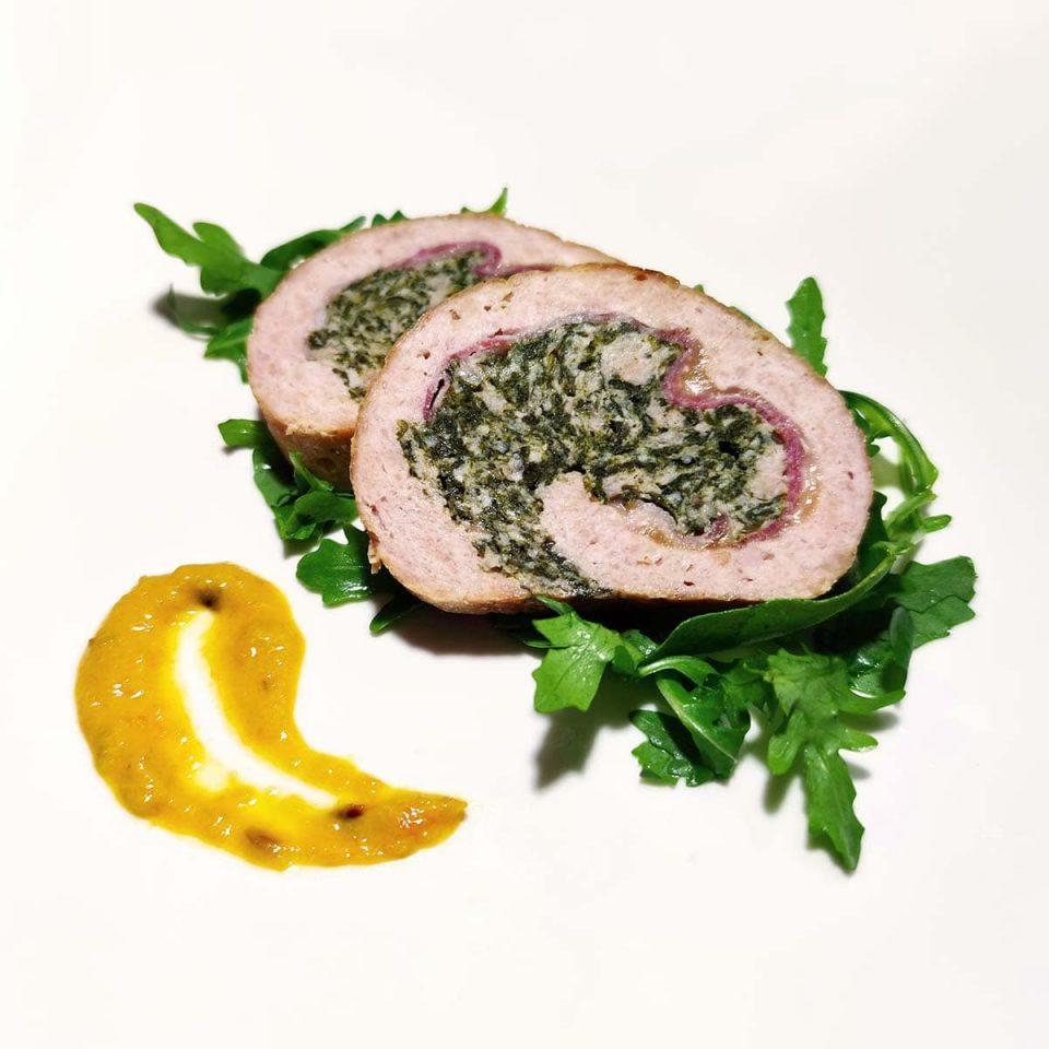 polpettone di pollo e spinaci