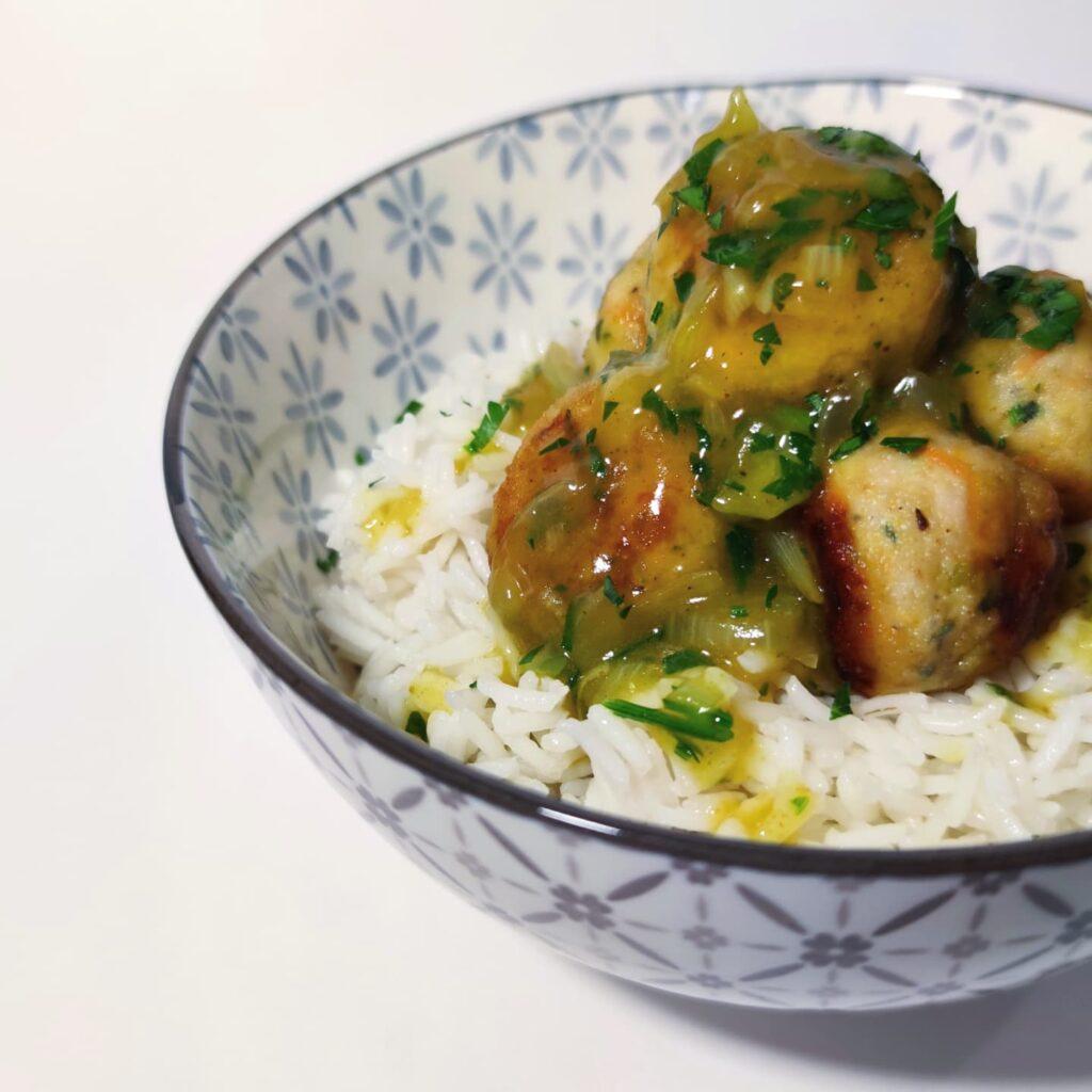 polpette di tacchino al curry