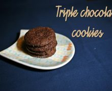 Triple chocolate cookies – Laura Vitale SENZA GLUTINE