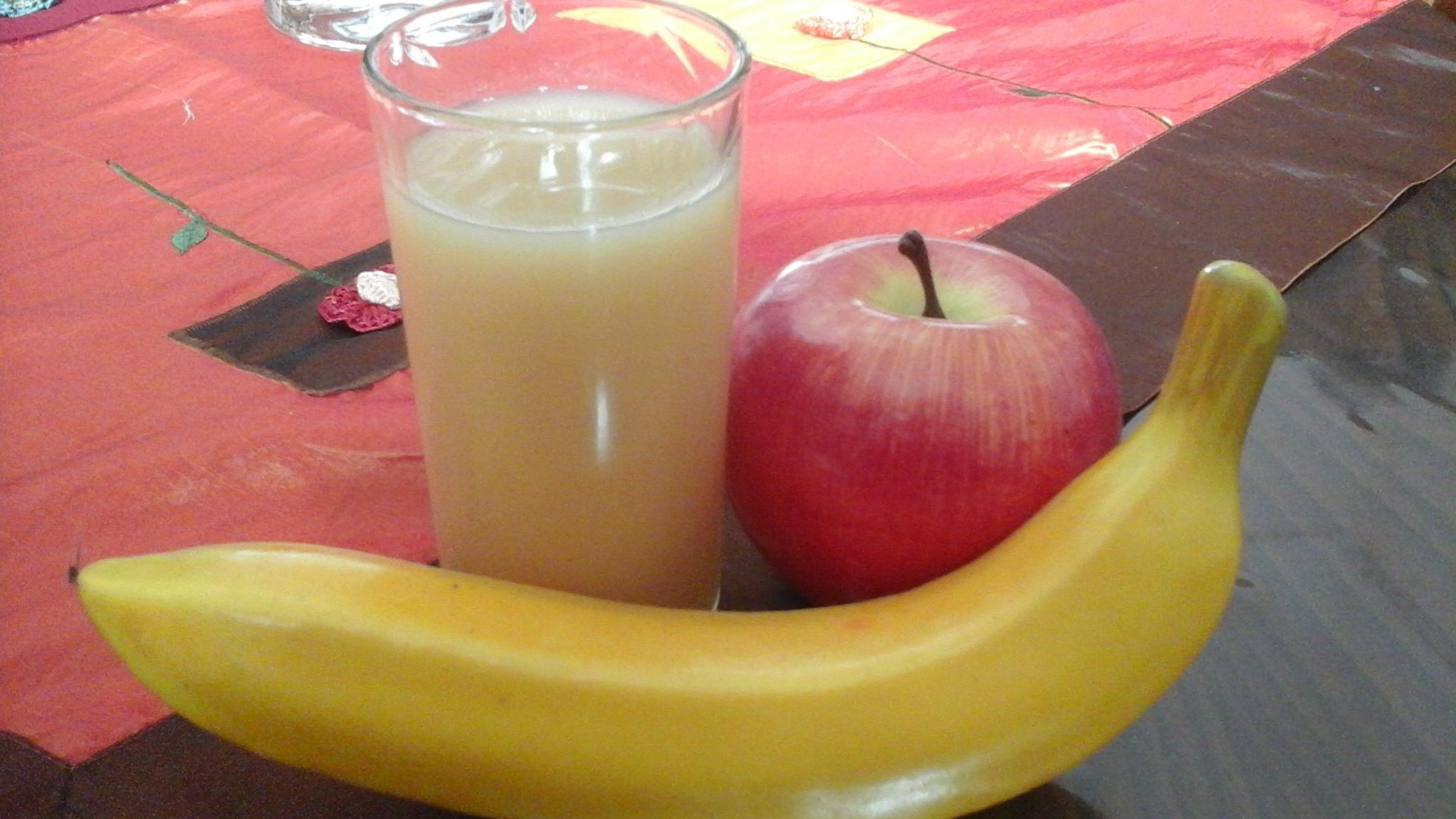 Succo mela e banana fatto in casa