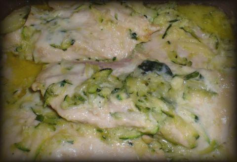 Petto di pollo con zucchine e panna
