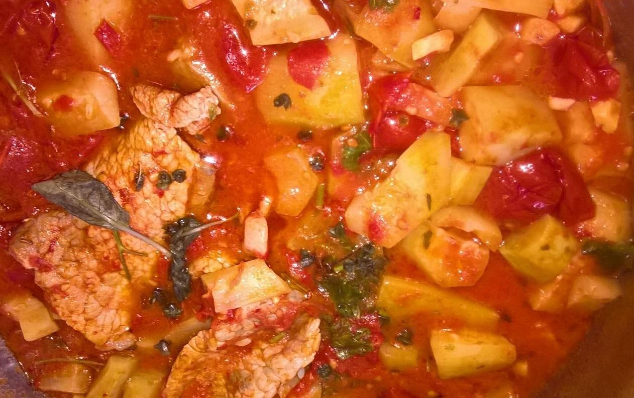 Zucca lunga (o zucca siciliana) al pomodoro