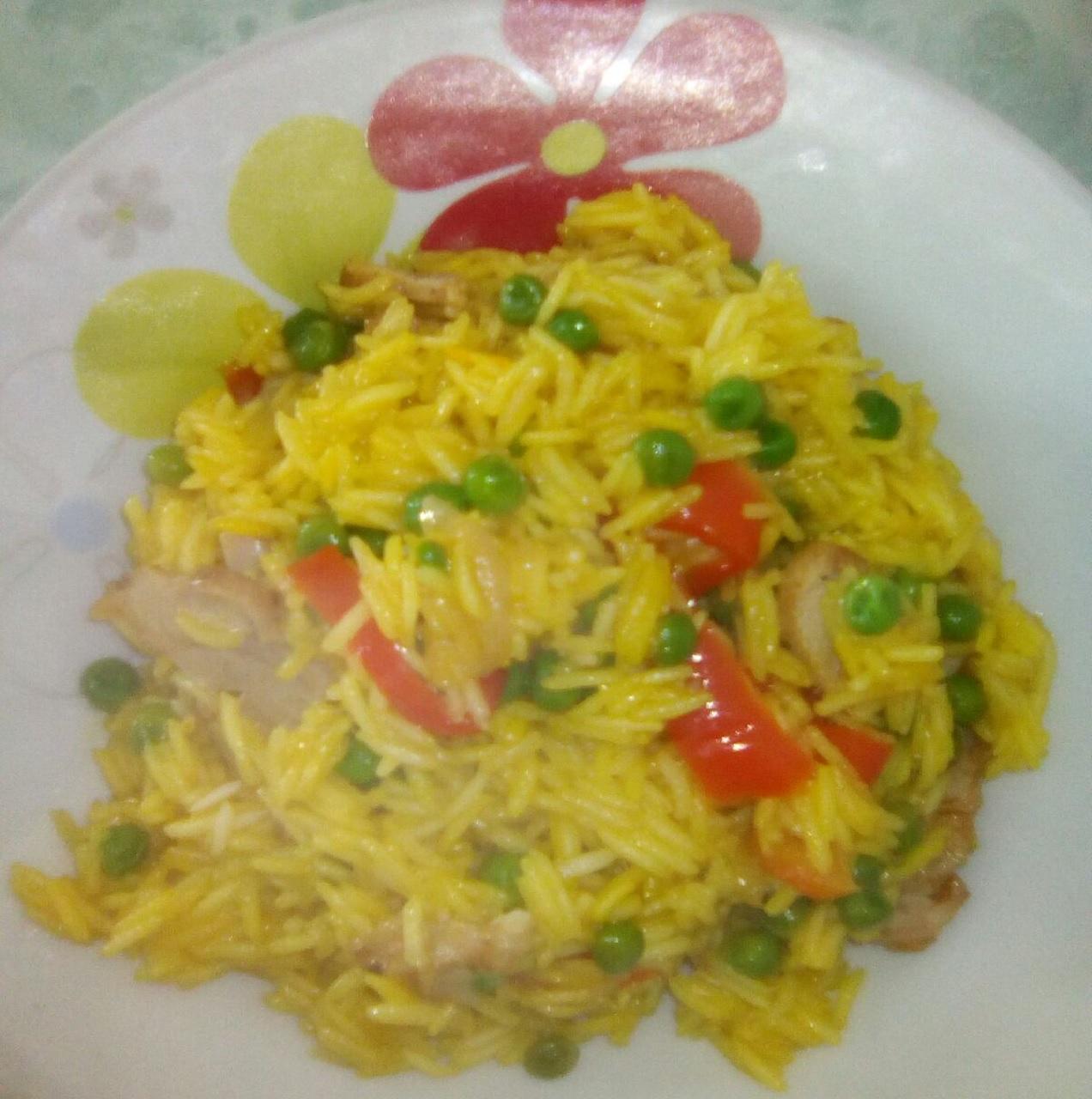 Paella con Kebab