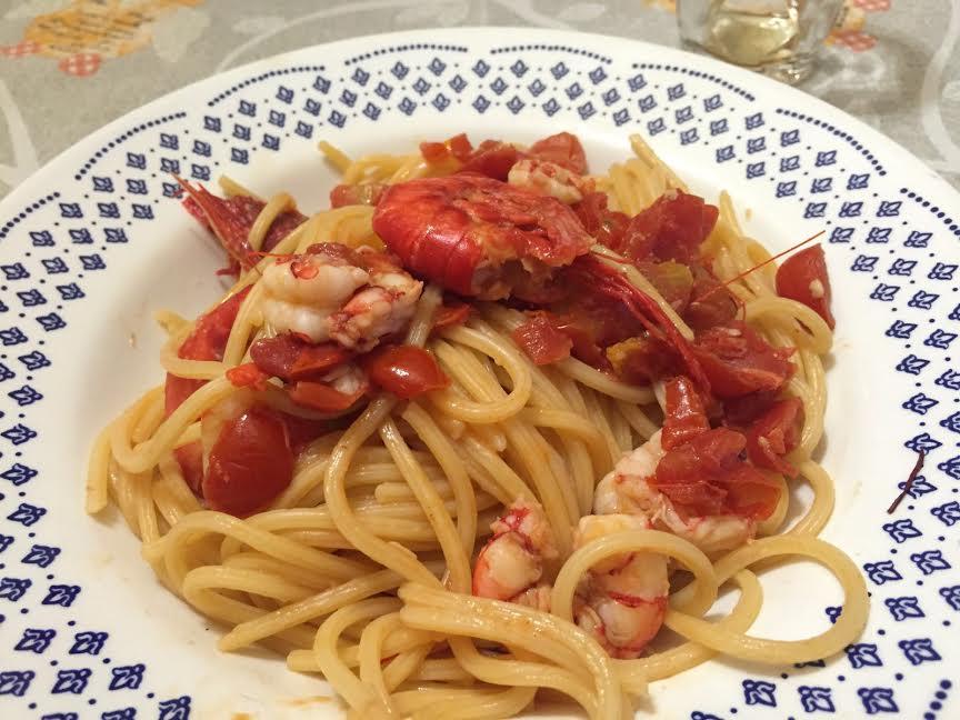 Spaghettata con gamberi di Mazara del Vallo