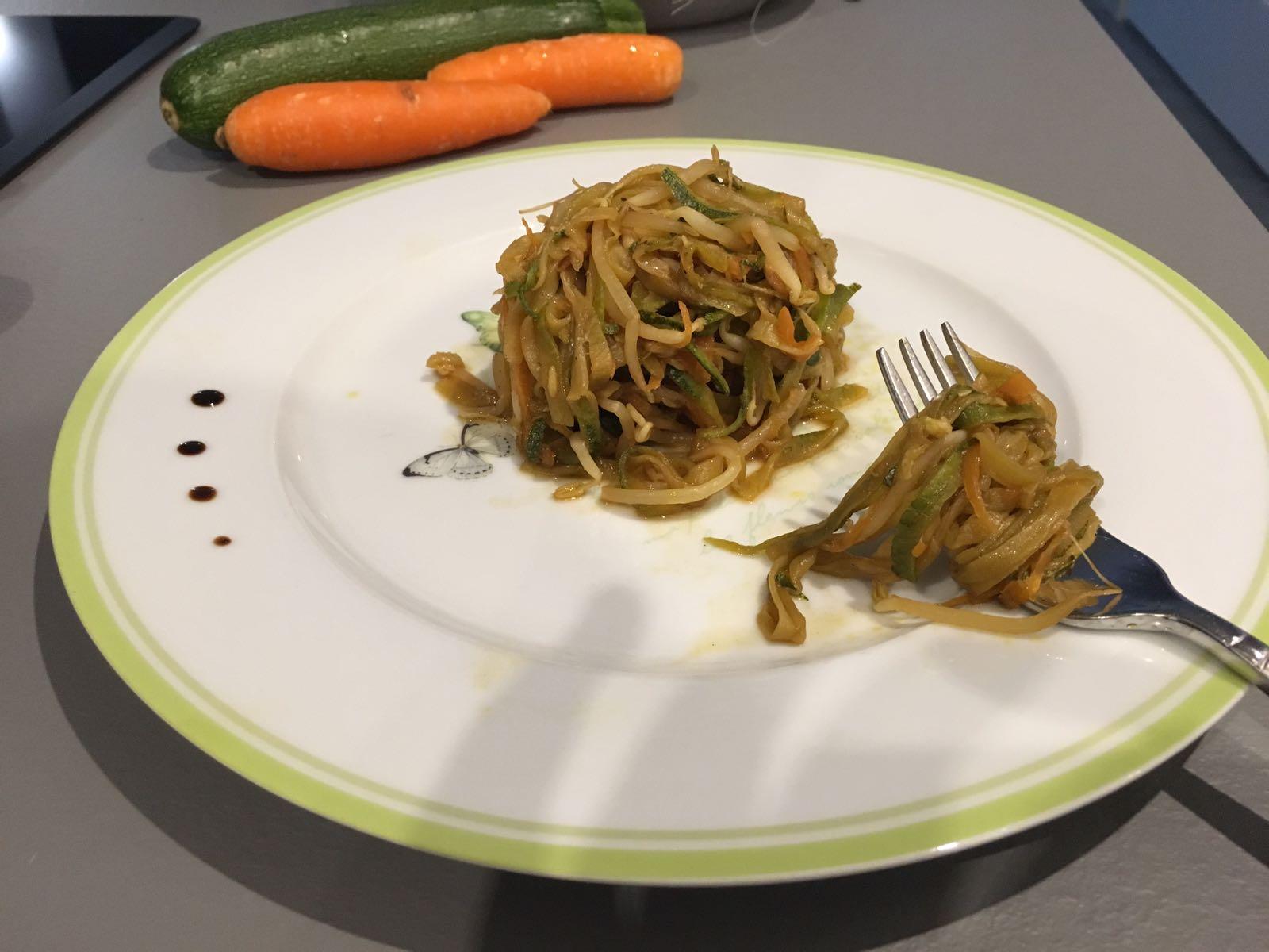 Spaghetti di zucchine e carote LA RICETTA