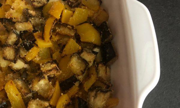 Melanzane e peperoni al forno