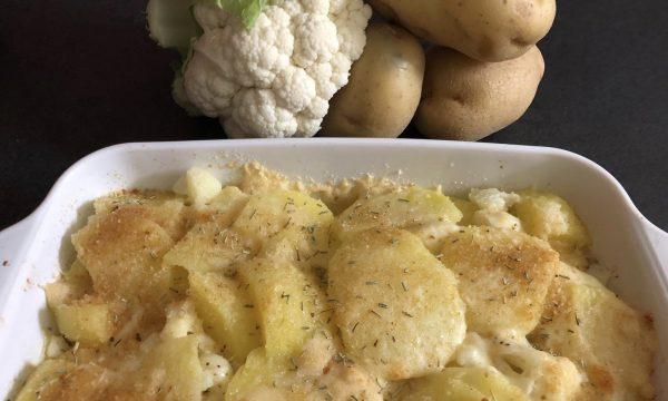 Patate e cavolfiore al forno