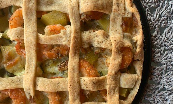 Torta salata zucchine e gamberi Bimby