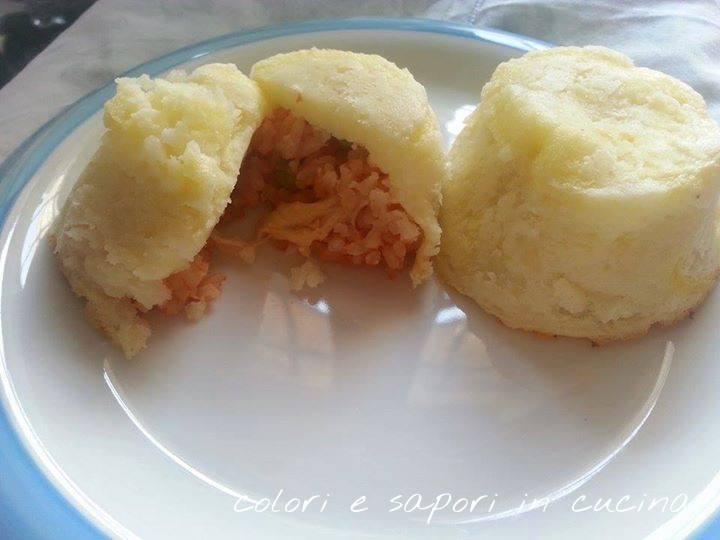 Riso al pomodoro in crosta