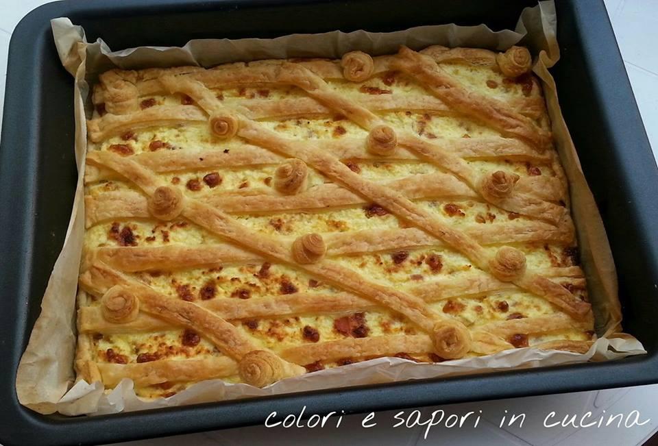 Torta salata ricotta e speck
