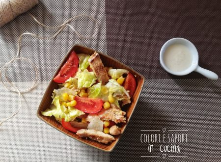 Insalata di pollo fredda, veloce e light