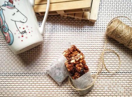 Barrette energetiche ai cereali, con frutta secca