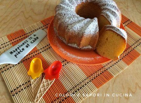 Ciambella all'arancia, senza latte e senza burro