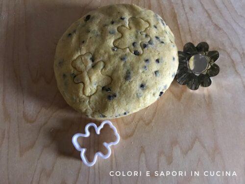 Pasta frolla con gocce di cioccolato