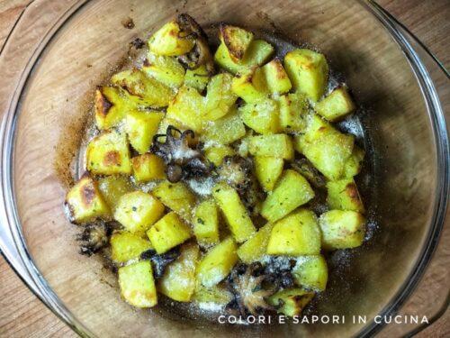 Seppioline con patate al forno gratinate
