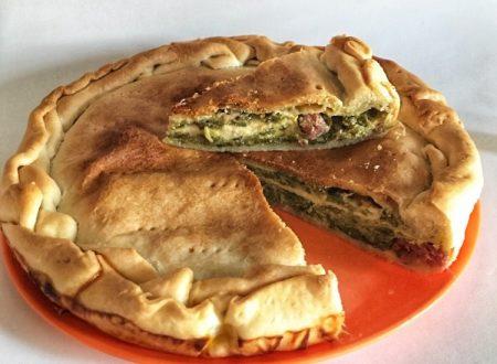 Pizza di scarola veloce con pasta brisè