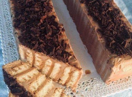 Semifreddo di biscotti, con mascarpone e nutella