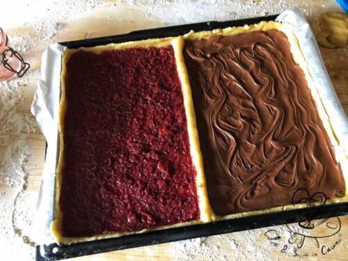 Crostata bigusto nutella e marmellata