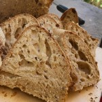Pane integrale con semi di lino