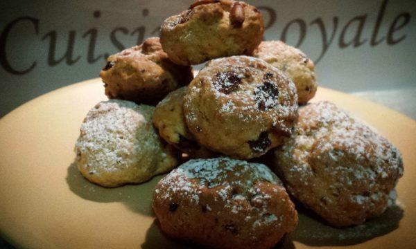 Biscotti con pinoli uvetta e pistacchi