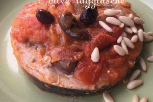 Pesce spada con pomodorini e olive taggiasche