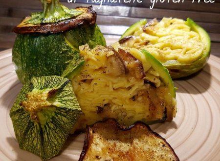 Zucchine tonde ripiene di tagliatelle gluten free