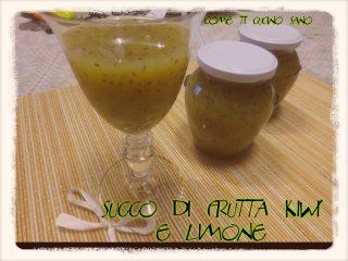 Succo di frutta kiwi e limone fatto in casa