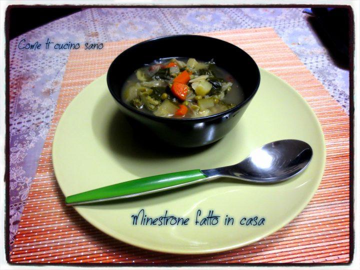Minestrone di verdure fatto in casa
