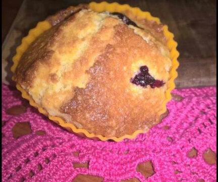 Muffin mirtilli e cocco. Ricetta facile e veloce.