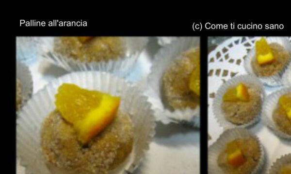 Palline  all'arancia ricetta facile e veloce