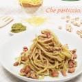 Spaghetti pesto di pistacchi