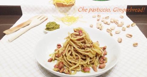 Spaghetti pesto di pistacchio