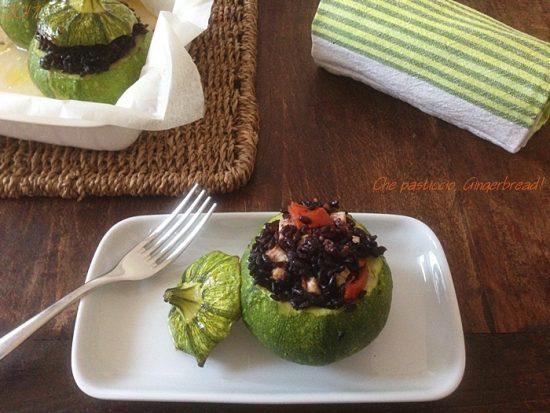 Zucchine tonde ripiene VEG
