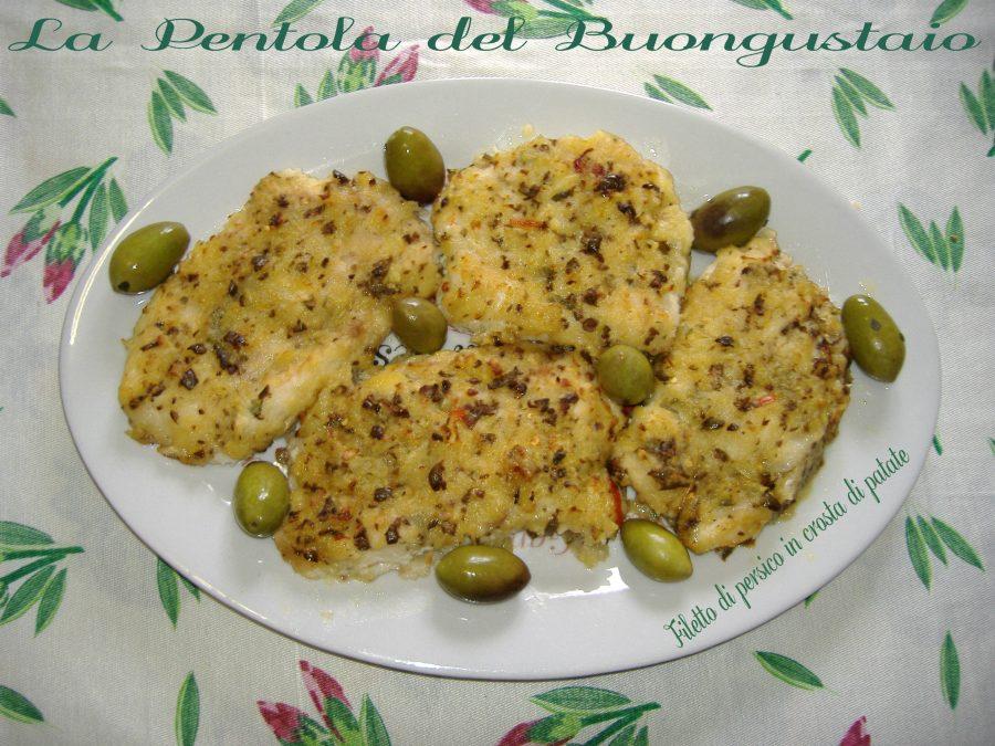 Filetto di persico in crosta di patate