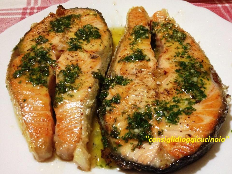 Salmone grigliato in Salsa Salmoriglio