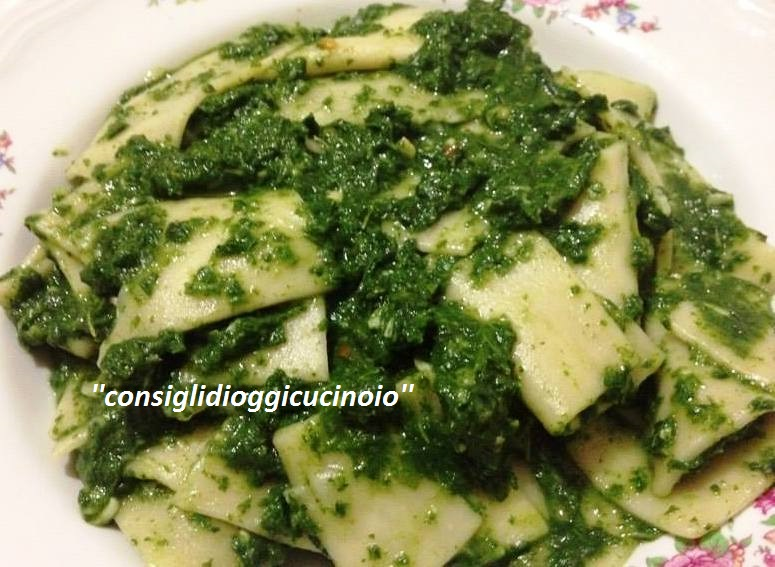 Sagne con Crema di Broccoletti Siciliani