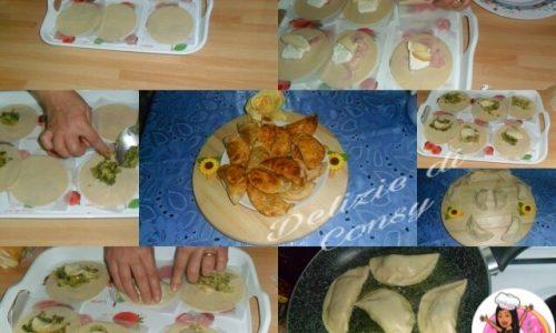 Mezze lune di pasta fatta in casa