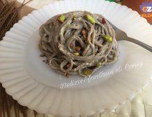 Spaghetti Gluten Free con crema di pistacchi e ricotta